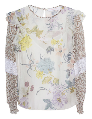SEE BY CHLOÉ Ruched Blouse Flower Multicolour