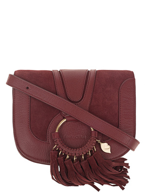 SEE BY CHLOÉ Fringes Medium Acerola Bordeaux