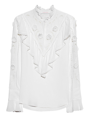 SEE BY CHLOÉ Boho Flounced Off White