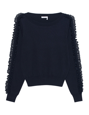 SEE BY CHLOÉ Tulle Lace Navy