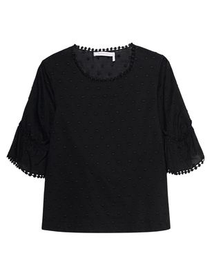 SEE BY CHLOÉ Short Blouse Black