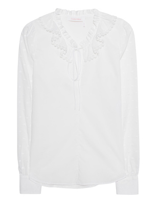 SEE BY CHLOÉ Ruffle Dots White