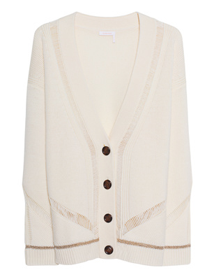 SEE BY CHLOÉ Knit Glitter Crystal White