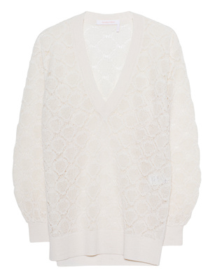 SEE BY CHLOÉ V Neck Off White