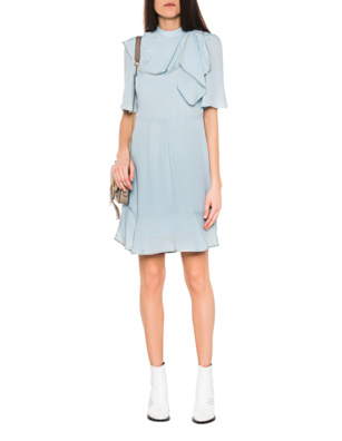 SEE BY CHLOÉ Volant Dress Turquoise