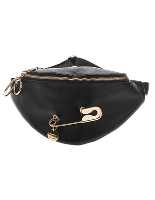SEE BY CHLOÉ Safety Pin Belt Mini Ardent Black