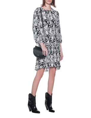 SEE BY CHLOÉ Print Dress Black White