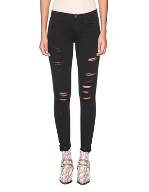 FRAME DENIM Le Color Ripped Destroyed Black