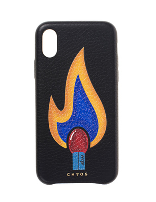 CHAOS iPhone X Graphic Flame Black