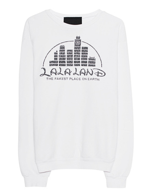 LOCAL AUTHORITY L.A. LA LA Land Crew Neck Fleece White