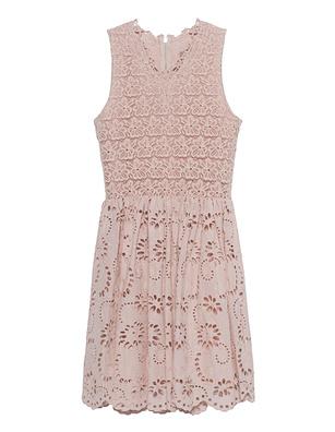 JADICTED Lace Dress Beige