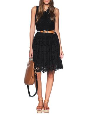 JADICTED Lace Dress Black