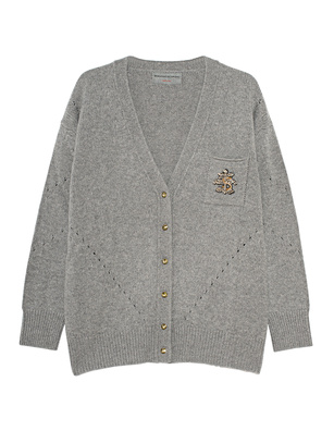 Ermanno Scervino Oversize Knit Pearl Grey