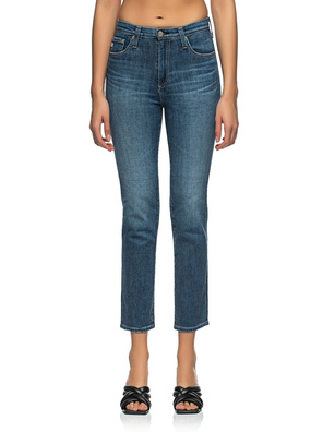 AG Jeans Isabelle High Rise Straight Crop Blue