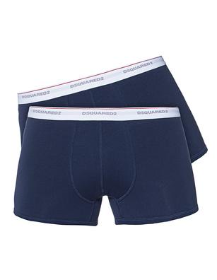 D-Squared Underwear Twinpack Trunk Navy