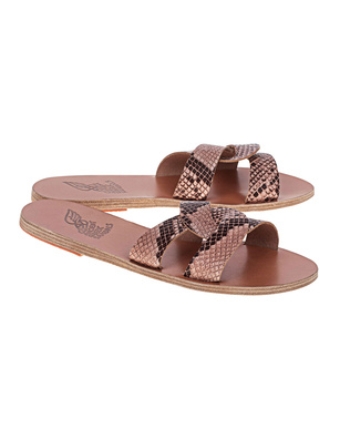 Ancient Greek Sandals Python Nude Beige