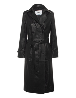 Dondup Leather Trench Black