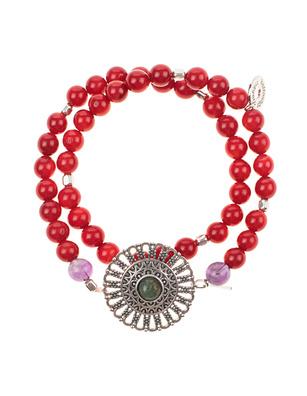 HOFFNUNGSTRÄGER Bracelet Red Silver