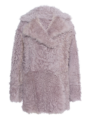 DROME Fur Leather Fluffy Mauve