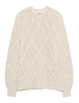 Dondup Cable Knit Creme