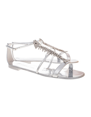 GIUSEPPE ZANOTTI Roll Sandalo Suprise Silver