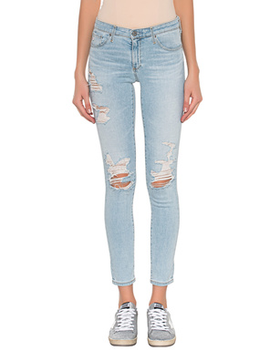 AG Jeans The Legging Ankle Destroyed Light Blue