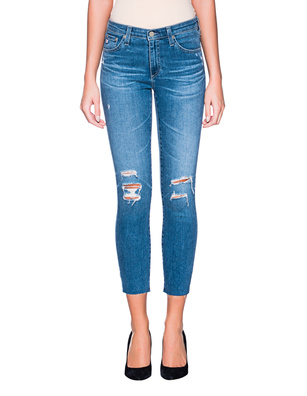 AG Jeans Prima Crop Destroyed Blue