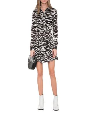Ganni Skirt Zebra White Black