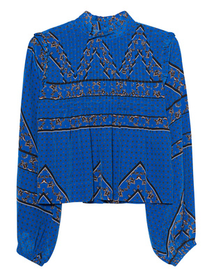 Ganni Silk Lapis Blue