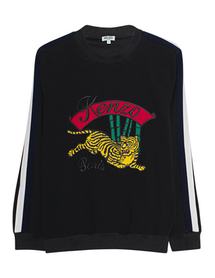KENZO Jumping Tiger Embroidery Black