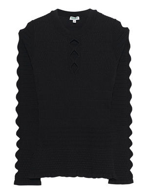 KENZO Fitted Lacehole Black