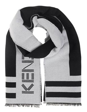 KENZO Wool Label Black White