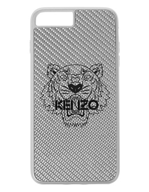 KENZO iPhone 7/8 Plus Carbon Fiber Silver