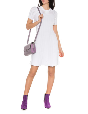 KENZO Solid Lacehole Dress White