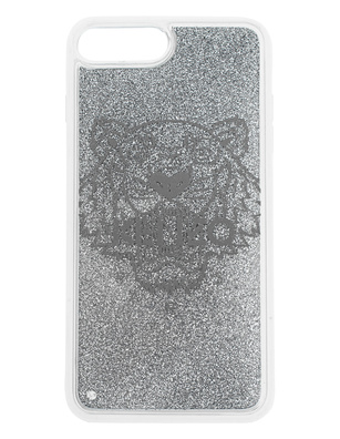 KENZO Case iPhone 8+ Tiger Head Silver