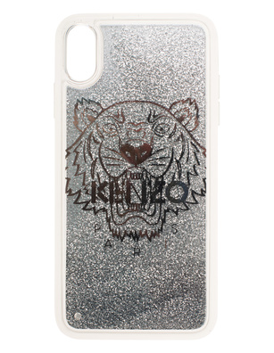 KENZO Case iPhone X+ Tiger Head Silver