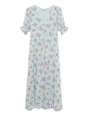 FAITHFULL THE BRAND Midi Maggie Floral Light Blue