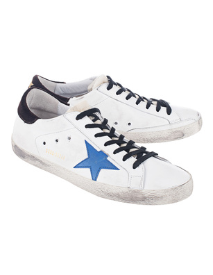 GOLDEN GOOSE DELUXE BRAND Superstar White Leather/Bluette Star