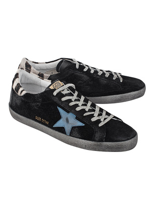 GOLDEN GOOSE DELUXE BRAND Superstar Black Suede Zebra