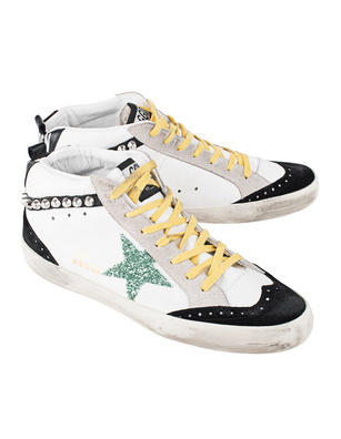 GOLDEN GOOSE DELUXE BRAND Mid Star White Leather Studs