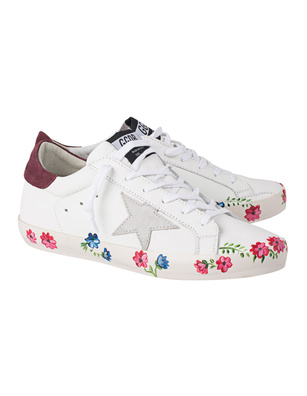 GOLDEN GOOSE DELUXE BRAND Superstar Painted Sole White