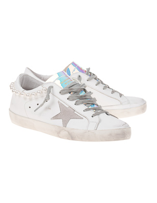 GOLDEN GOOSE DELUXE BRAND Superstar Pearl White