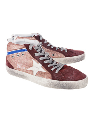 GOLDEN GOOSE DELUXE BRAND Mid Star Glitter Red