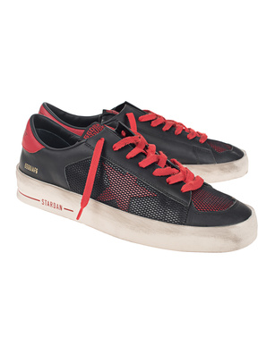 GOLDEN GOOSE DELUXE BRAND Staraid Black Red