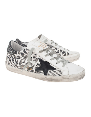 GOLDEN GOOSE DELUXE BRAND Superstar Leo Glitter Black White