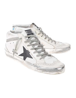 GOLDEN GOOSE DELUXE BRAND Mid Star Silver White