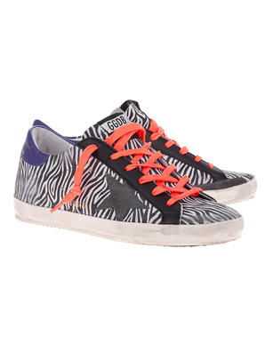GOLDEN GOOSE DELUXE BRAND Superstar Zebra Suede Multicolor
