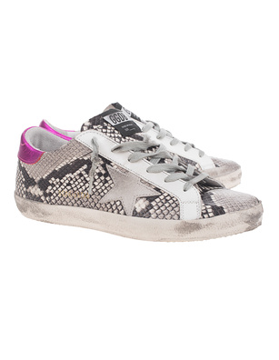 GOLDEN GOOSE DELUXE BRAND Superstar Snake Print Grey