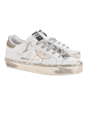 GOLDEN GOOSE DELUXE BRAND Hi Star Gold White