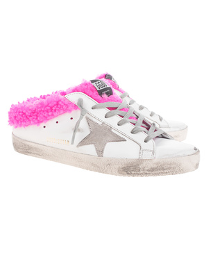 GOLDEN GOOSE DELUXE BRAND Superstar Sabot Shearling White